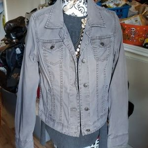 Abercrombie and fitch large used denim jacket